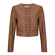 Buy Somerset by Alice Temperley Military Leather Jacket, Cognac Online at johnlewis.com