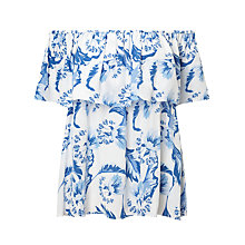 Buy Somerset by Alice Temperley Dahlia Off Shoulder Top, Blue Online at johnlewis.com
