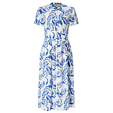 Buy Somerset by Alice Temperley Dahlia Button Through Dress, Blue Online at johnlewis.com