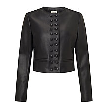 Buy Somerset by Alice Temperley Military Leather Jacket, Black Online at johnlewis.com
