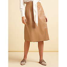 Buy Modern Rarity Leather Wrap Skirt, Tan Online at johnlewis.com