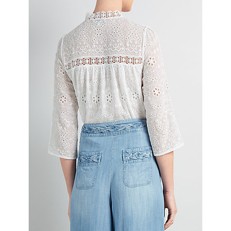 Buy Somerset by Alice Temperley Broderie Blouse, White Online at johnlewis.com