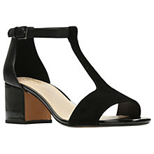 Buy Clarks Barley Belle T-Bar Sandals, Black Online at johnlewis.com