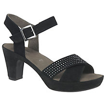 Buy Gabor Ransom Block Heeled Sandals, Black Online at johnlewis.com