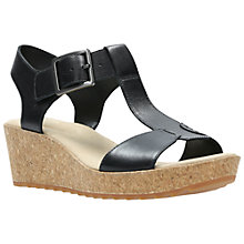 Buy Clarks Kamara Kiki Wedge Heeled Sandals, Black Online at johnlewis.com