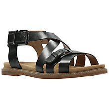Buy Clarks Corsio Bambi Cross Strap Sandals, Black Online at johnlewis.com
