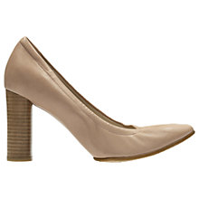 Buy Clarks Grace Eva Block Heeled Court Shoes, Nude Online at johnlewis.com
