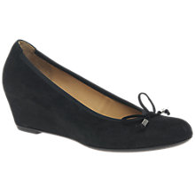 Buy Gabor Alvin Concealed Wedge Heeled Court Shoes, Black Online at johnlewis.com