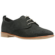 Buy Clarks Alania Posey Lace Up Brogues, Black Online at johnlewis.com