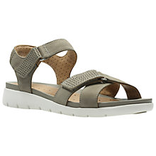 Buy Clarks Un Saffron Rip Tape Sandals, Sage Online at johnlewis.com