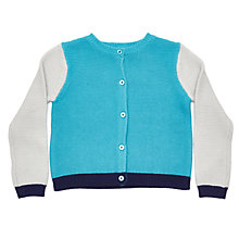 Buy Margherita Kids Girls' Contrast Sleeve Cardigan, Multi Online at johnlewis.com
