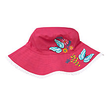 Buy John Lewis Children's Reversible Butterfly Bucket Hat, Pink/Multi Online at johnlewis.com