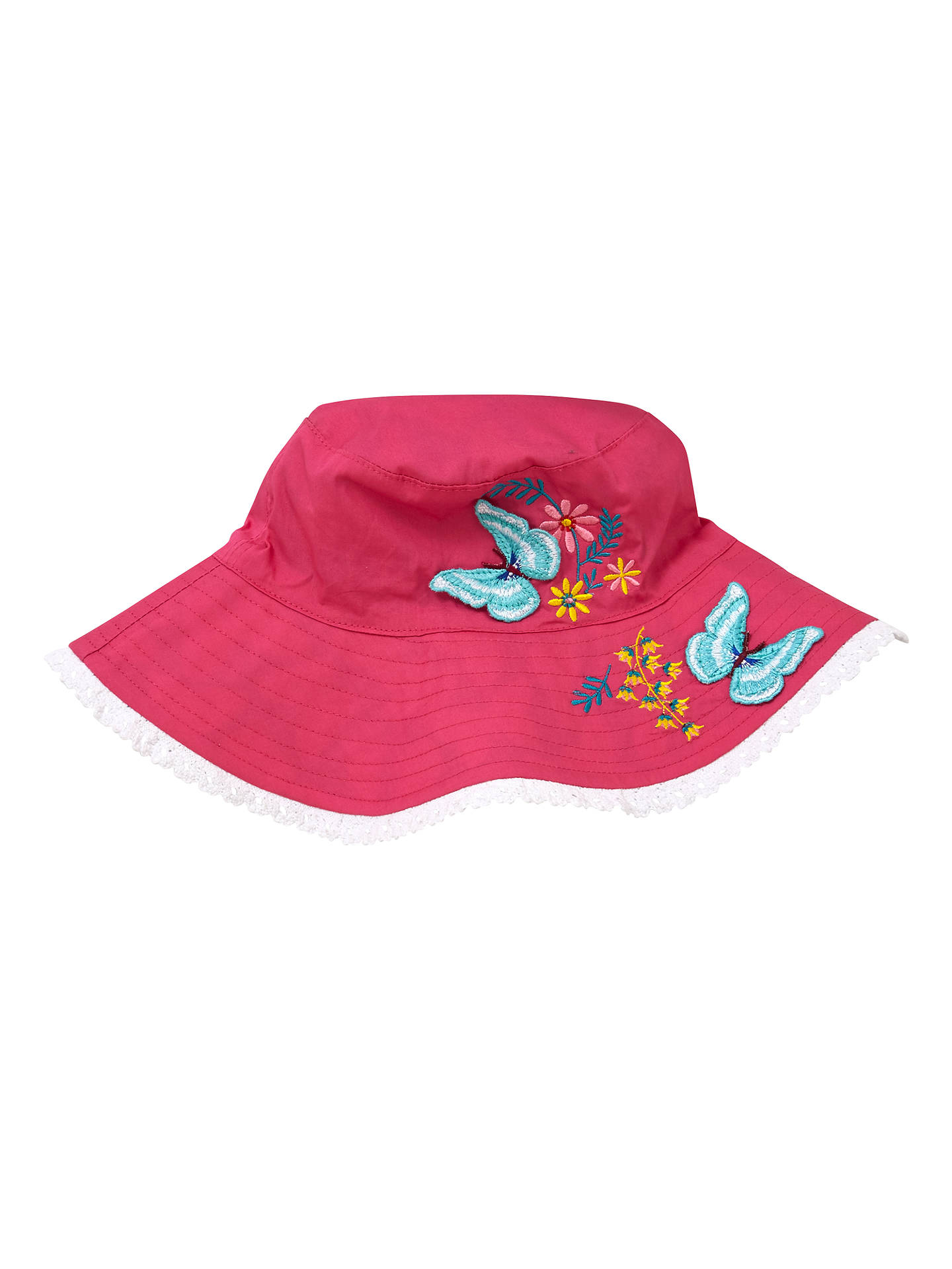 2656dd397c999 Buy John Lewis Children s Reversible Butterfly Bucket Hat