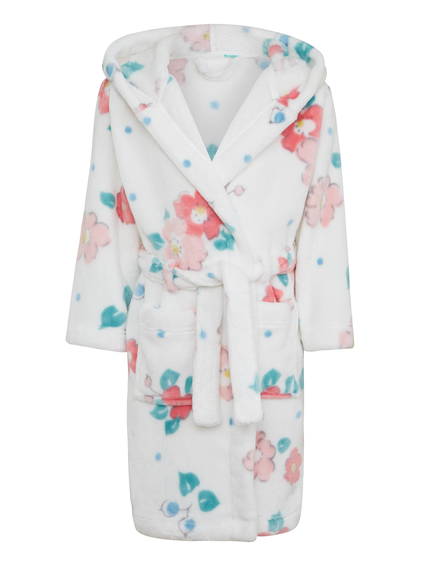 John Lewis Children\'s Vintage Floral Dressing Gown, Gardenia at John ...