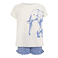 Buy John Lewis Children's Elephant and Disty Print Shortie Pyjamas, Navy/White Online at johnlewis.com