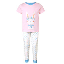 Buy John Lewis Children's Spring Bunny Pyjamas, Pink Online at johnlewis.com