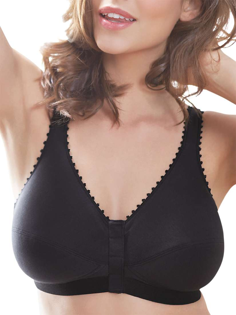unbeatable price latest trends new arrive Royce Front Fastening 1010 Comfi-Bra, Black at John Lewis ...