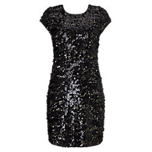 Buy Phase Eight Selia Sequin Dress, Black/Gold Online at johnlewis.com
