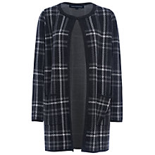 Buy French Connection Plaid Coatigan, Grey Marl/Charcoal/Winter White Online at johnlewis.com