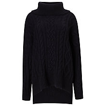 Buy Phase Eight Carina Cable Knit Jumper, Navy Online at johnlewis.com