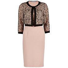 Buy Gina Bacconi Dainty Dress And Jacket, Pink/Black Online at johnlewis.com