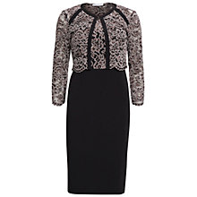 Buy Gina Bacconi Vintage Dress And Jacket, Black/Beige Online at johnlewis.com