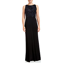 Buy Adrianna Papell Beaded Bodice Gown, Navy/Black Online at johnlewis.com