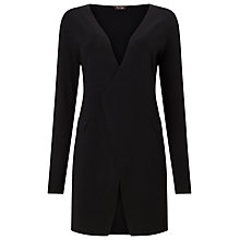Buy Phase Eight Lina Longline Knitted Blazer, Black Online at johnlewis.com