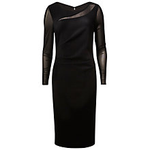 Buy Gina Bacconi Moss Crepe And Mesh Dress Online at johnlewis.com