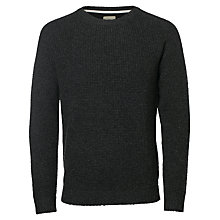 Buy Selected Homme Brandon Crew Neck, Dark Grey Melange Online at johnlewis.com