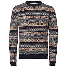Buy Selected Homme Isle Crew Neck Jumper, Dark navy Online at johnlewis.com