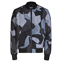 Buy Diesel J-Kill Printed Bomber Jacket, Black Online at johnlewis.com