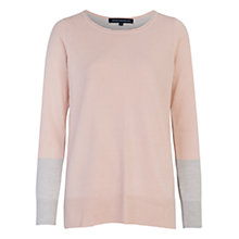 Buy French Connection Colourblock Jumper, Blush/Light Grey Marl Online at johnlewis.com