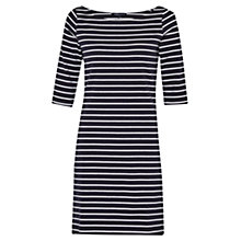 Buy French Connection Eso Tim Tim Stripe Dress, Utility Blue/White Online at johnlewis.com