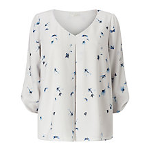 Buy Jacques Vert Dragon Fly Blouse, Light Grey Online at johnlewis.com