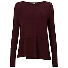 Buy Phase Eight Felicity Step Hem Jumper, Wine Online at johnlewis.com