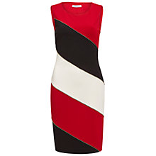 Buy Gina Bacconi Ponti Colour Block Dress, Red Online at johnlewis.com