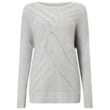 Buy Phase Eight Aletta Cable Knit Jumper, Silver Grey Online at johnlewis.com