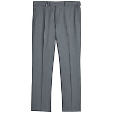 Buy Jaeger Wool Twill Regular Fit Suit Trousers, Grey Online at johnlewis.com
