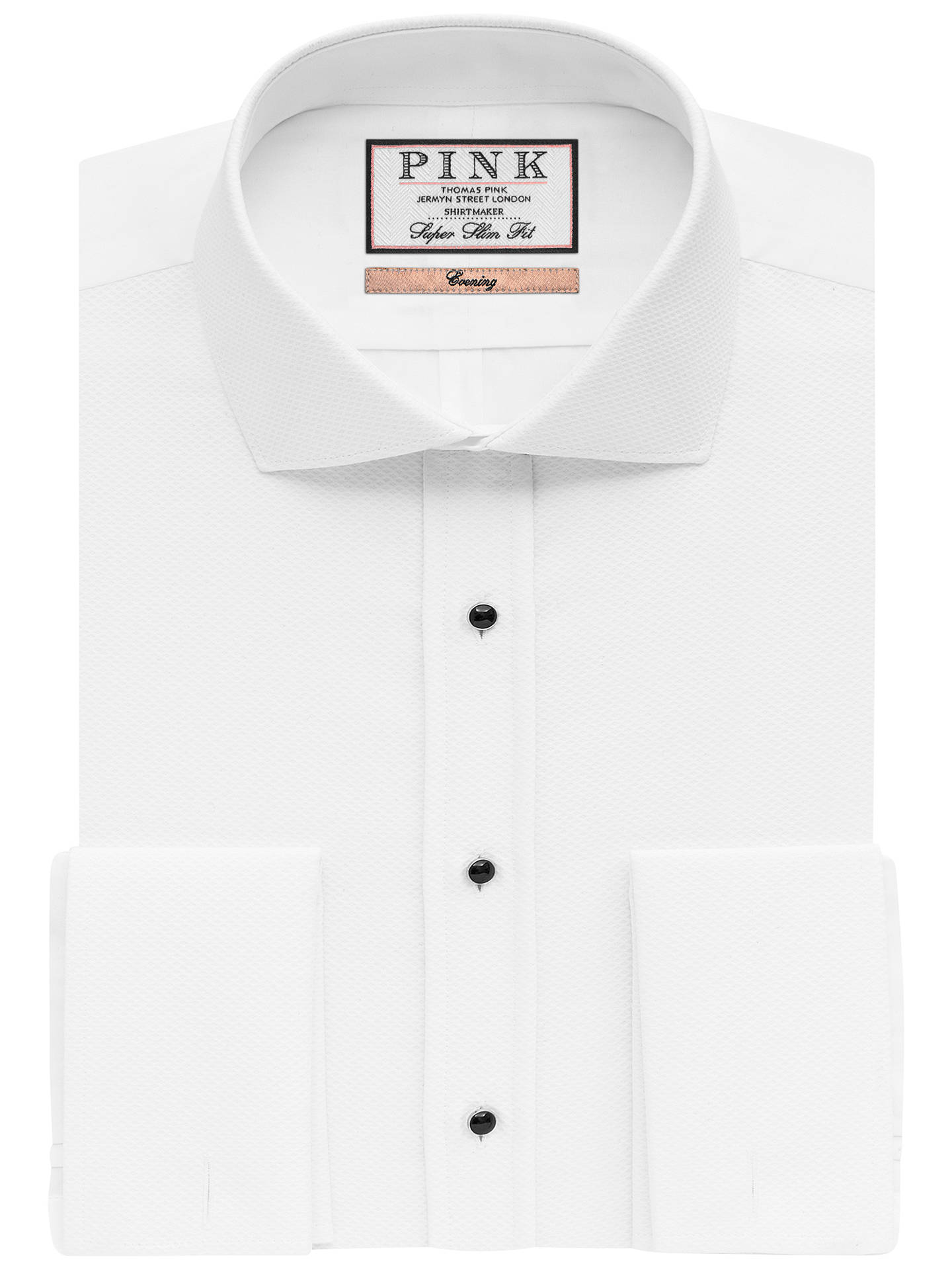 Buy Thomas Pink Marcella Super Slim Fit Dress Shirt, White, 14 Online at johnlewis.com