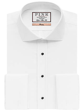 Buy Thomas Pink Marcella Super Slim Fit Dress Shirt, White, 17.5 Online at johnlewis.com
