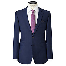 Buy John Lewis Semi Plain Super 100s Wool Travel Suit Jacket, Bright Blue Online at johnlewis.com