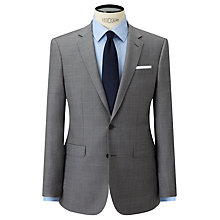 Buy John Lewis Woven in Italy Half Canvas Super 120s Wool Check Tailored Suit Jacket, Grey Online at johnlewis.com