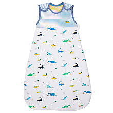 Buy John Lewis Baby Dino Print Sleep Bag, 1 Tog, Blue Online at johnlewis.com