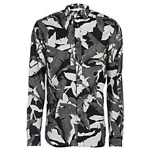 Buy Diesel S-Dorado Camo Leaf Print Long Sleeve Shirt, Black/Multi Online at johnlewis.com