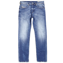 Buy Diesel Buster Tapered Jeans, Light Blue Online at johnlewis.com