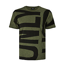 Buy Diesel T-Diego-MD Sailor Logo T-Shirt, Forest Night Online at johnlewis.com
