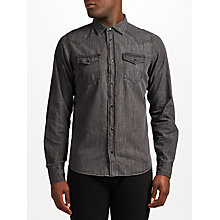 Buy Diesel Sonora-E Denim Shirt, Grey Online at johnlewis.com