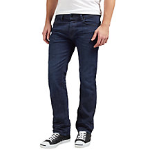 Buy Diesel Waykee Regular Straight Stretch Jeans, Mid Blue 0860Z Online at johnlewis.com