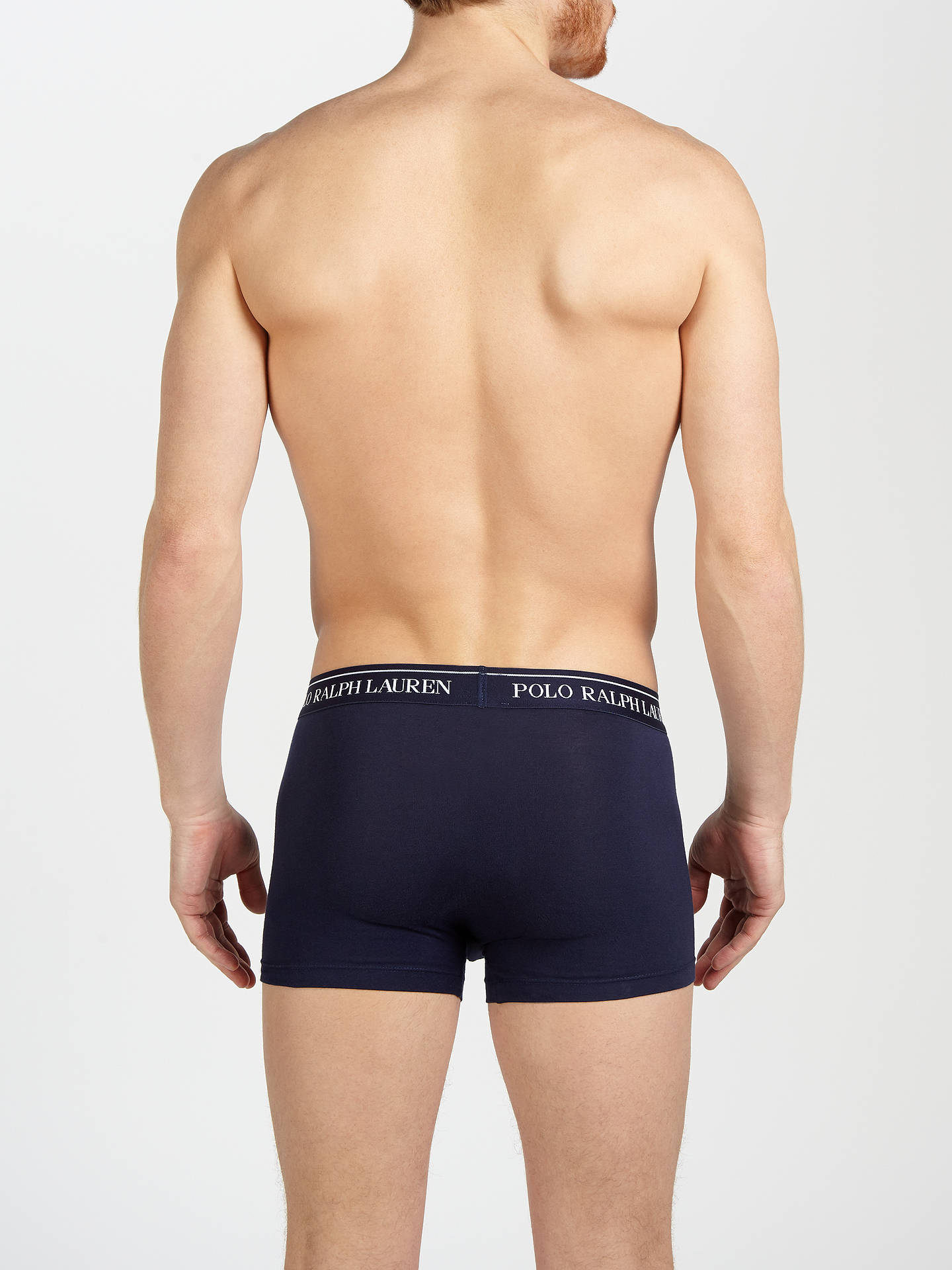 BuyPolo Ralph Lauren Stretch Cotton Trunks, Pack of 3, Navy, S Online at johnlewis.com